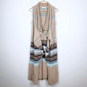 Anthropologie Sleeping on Snow Sweater Vest Cardi